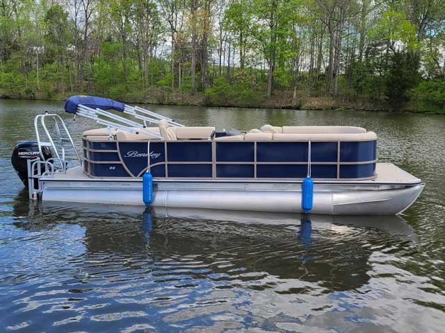 Bentley 220 Blue Pontoon Boat Rental